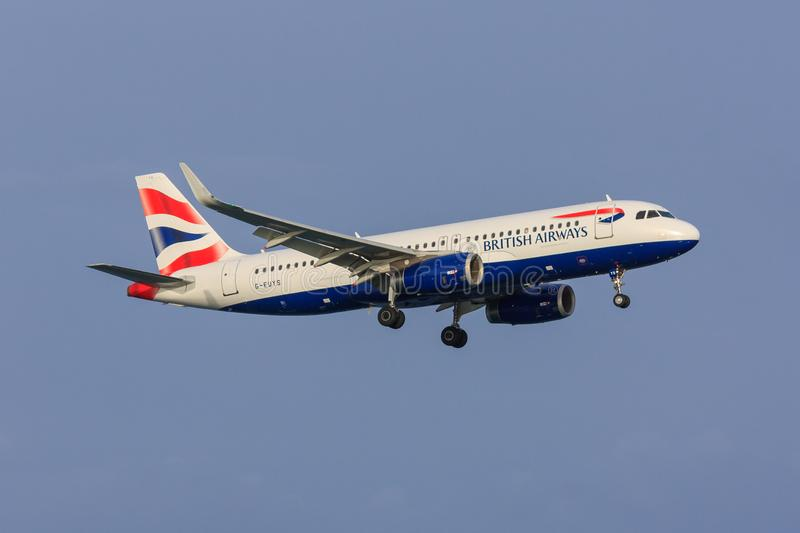 British Airways Airbus A320, sharklets photos libres de droits
