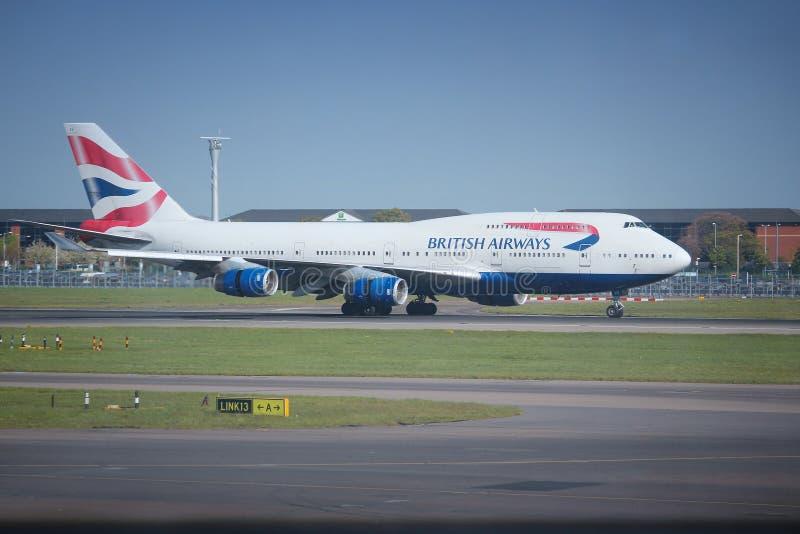 British Airways Boeing image stock