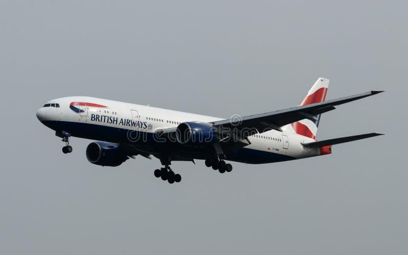 British Airways Boeing 777 royalty-vrije stock foto's