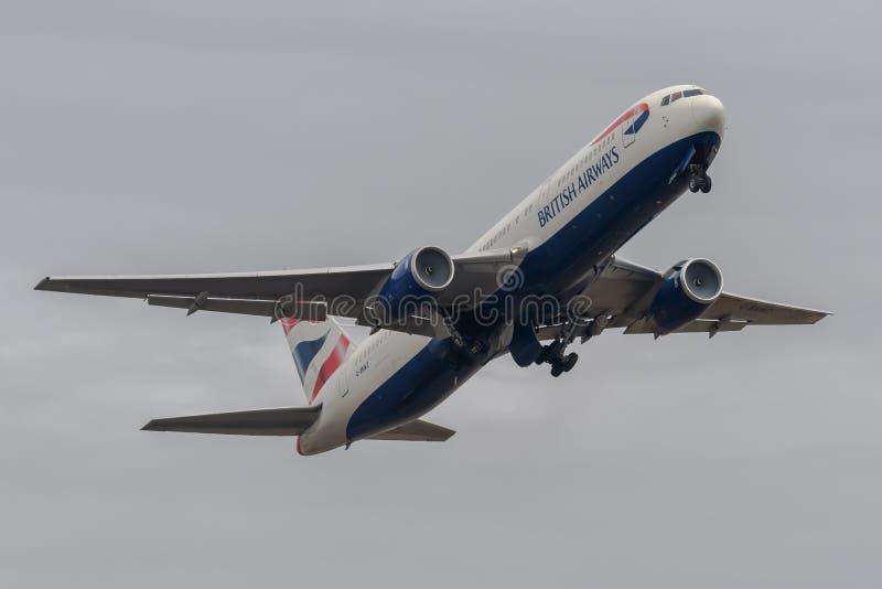 British Airways Boeing 767 image libre de droits