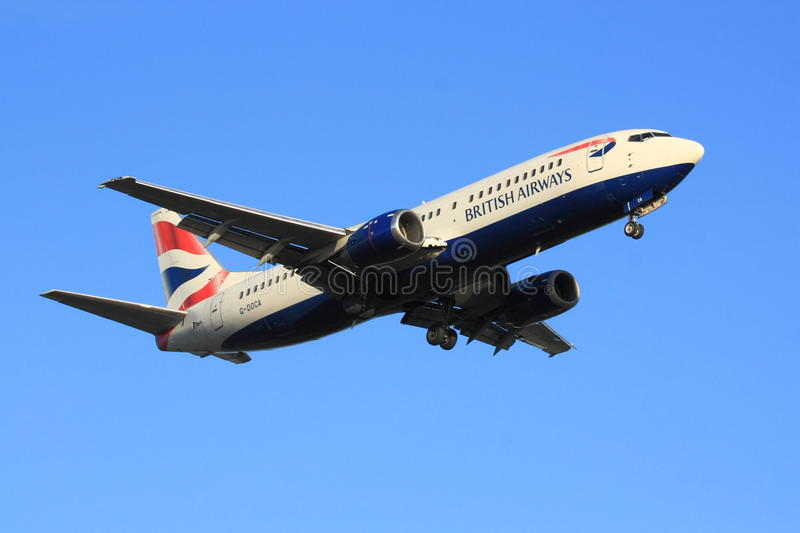 British Airways Boeing 737 image stock