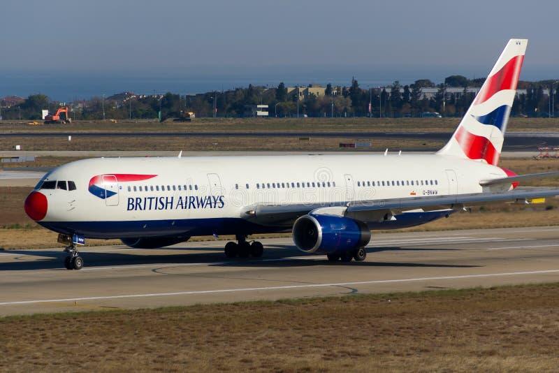 British Airways Boeing 767 photographie stock libre de droits