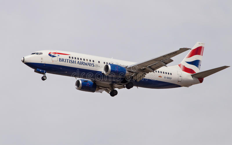 British Airways Boeing 737 images libres de droits