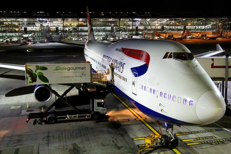 British Airways Boeing 747 photo stock