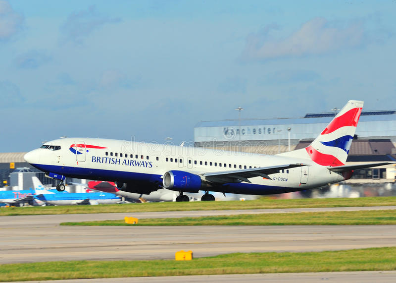 British Airways Boeing 737 lizenzfreie stockfotos