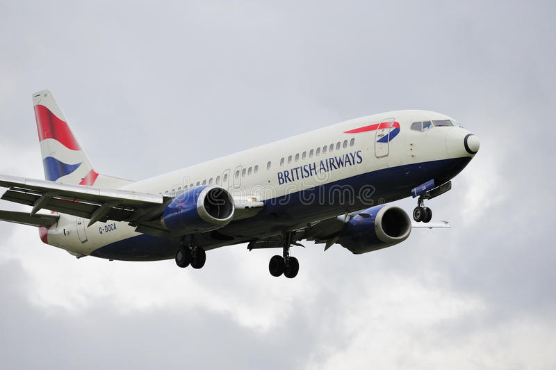 British Airways Boeing 737 royalty-vrije stock foto