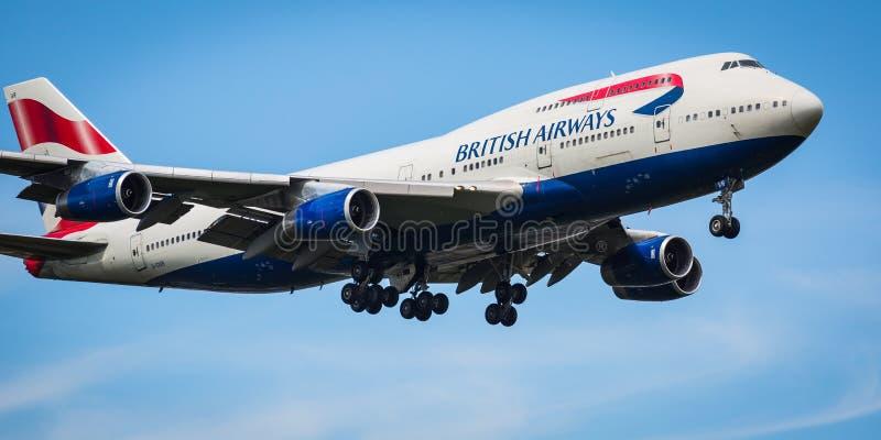 British Airways Boeing 747-400 aviões imagem de stock royalty free