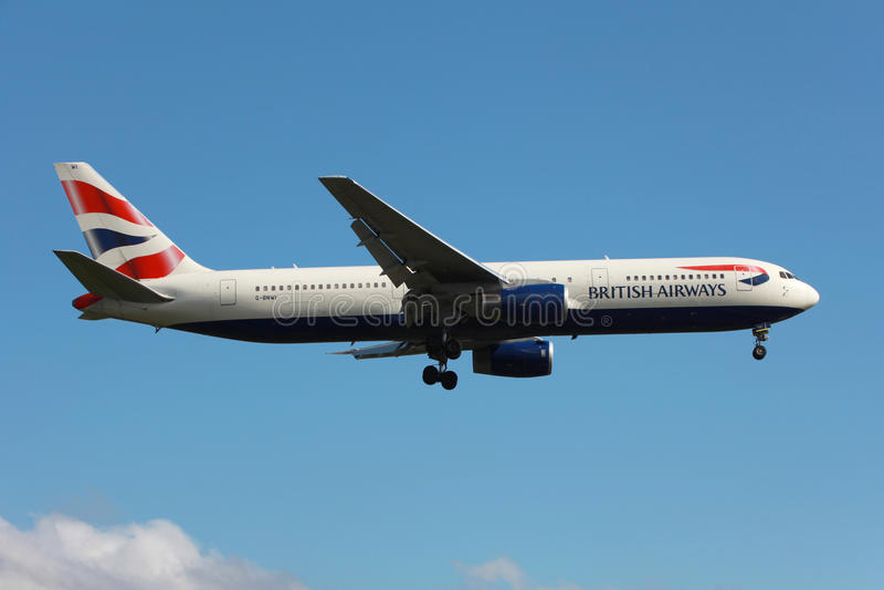 British Airways Boeing 767-300ER photo libre de droits