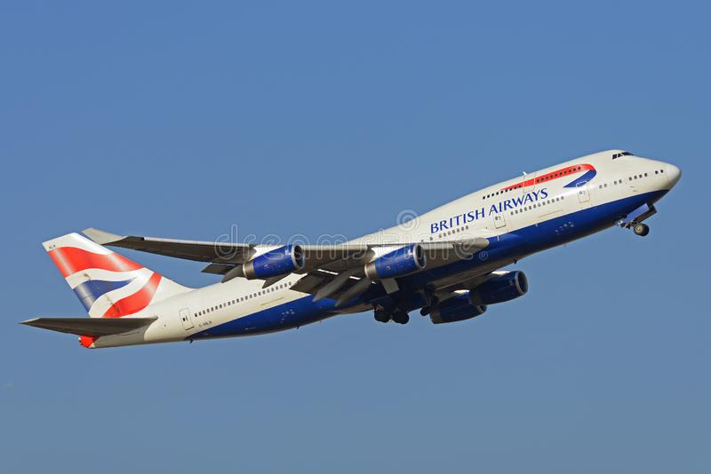 British Airways Boeing 747 Jumbo Jet plane royalty free stock image
