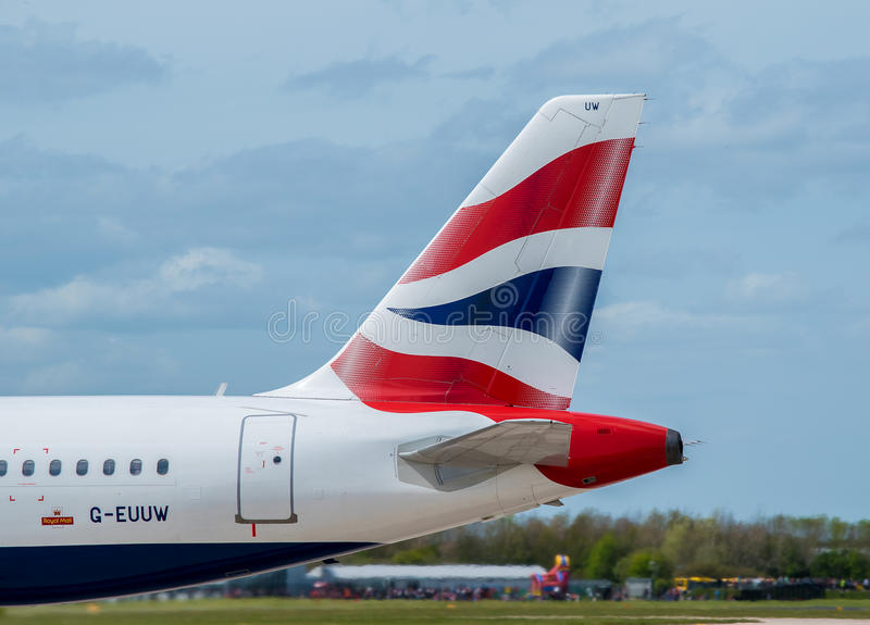 British Airways coupent la queue image stock