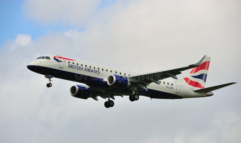 British Airways Embraer erj-190SR stock foto's