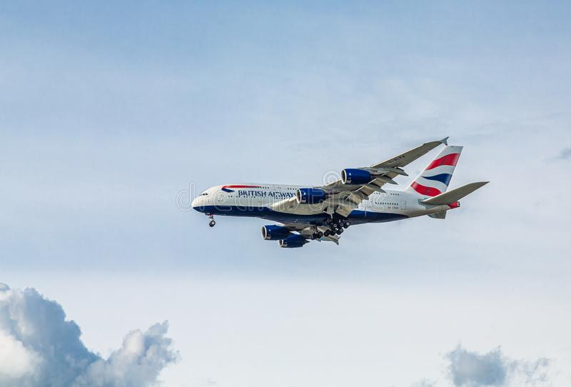 British Airways en vol photo libre de droits