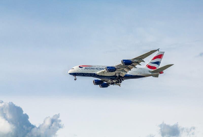 British Airways in Flight royalty free stock photo