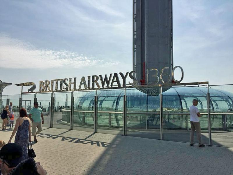 British Airways i360 photos libres de droits