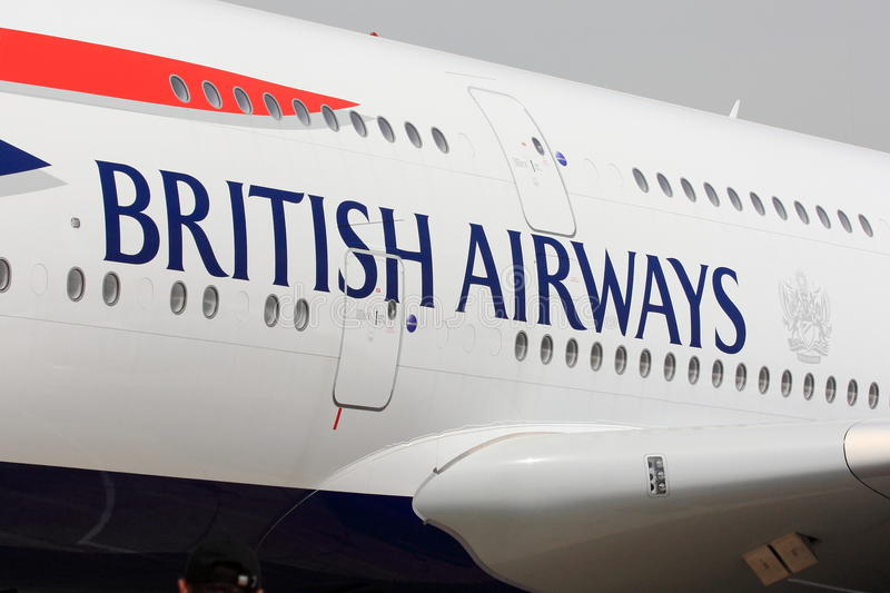 British Airways Letters On Aircraft Editorial Photo