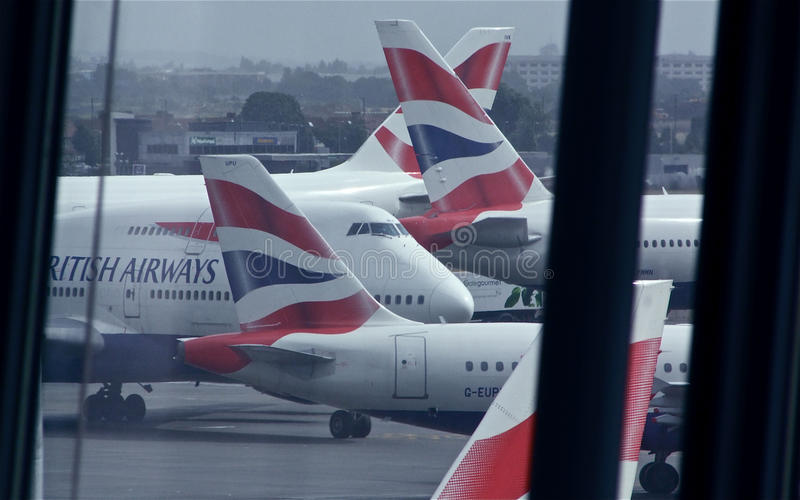 British Airways at London Heathrow, T5 royalty free stock photos