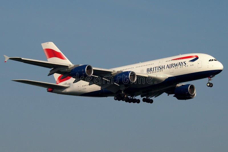 British Airways toppen jumbo arkivfoton