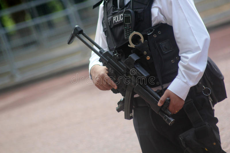 British Armed Police London England stock photography