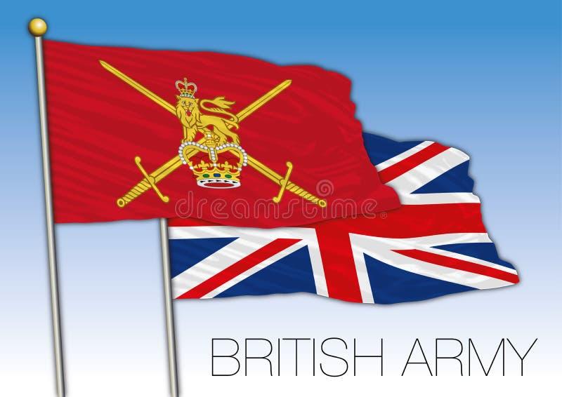 British Army Ensign Flag United Kingdom Vector Illustration Stock