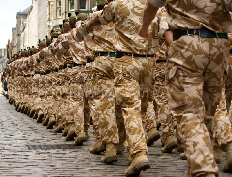 British Army Soldiers royalty free stock image