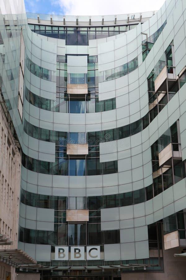 British broadcaster BBC headquarters, London. London, UK - The famous British broadcaster BBC headquarters in London. June 24, 2012 stock photography