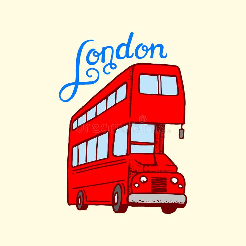 British Bus In London And The Gentlemen Symbols Badges Or