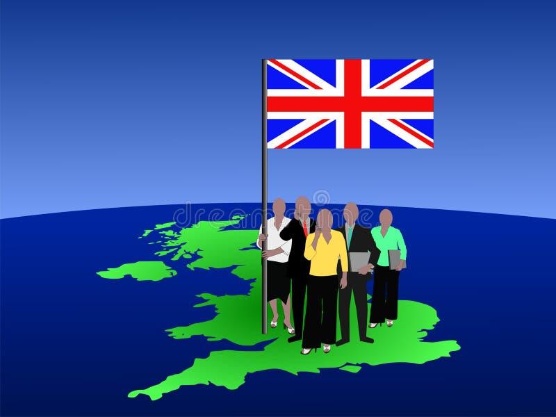 British business team vector illustration