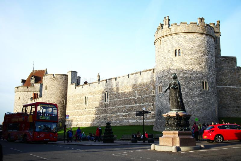 British castle scene. stock image