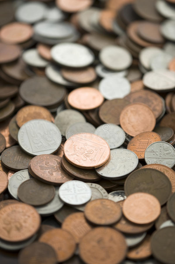 British coins sterling full frame stock images