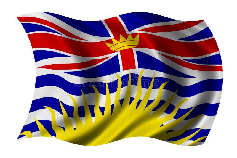 British Columbia Flag Royalty Free Stock Images