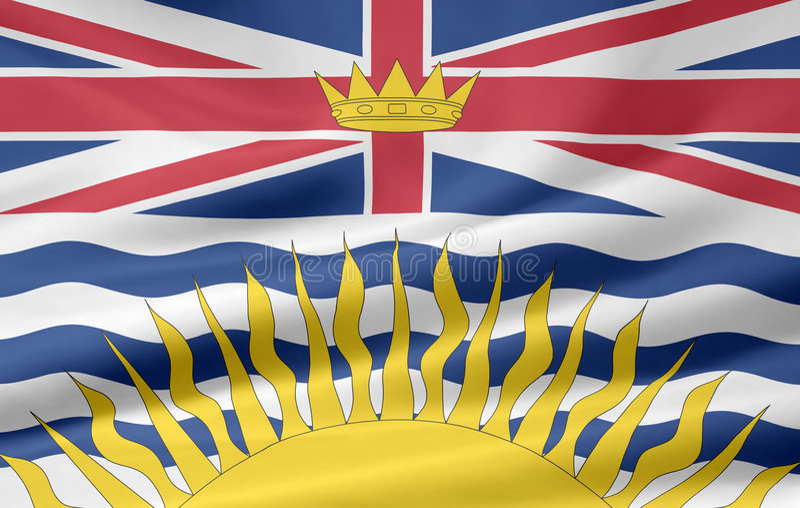 Download British Columbia flag stock illustration. Illustration of north - 6243708