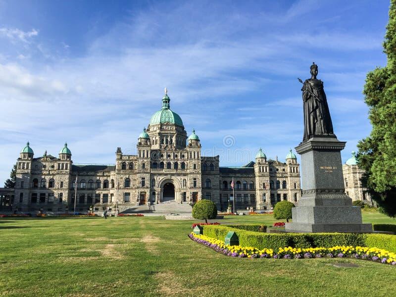 British Columbia parlamentbyggnader i Victoria fotografering för bildbyråer