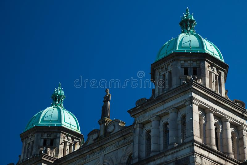 British Columbia Provincial Parliament in Victoria. Canada royalty free stock image