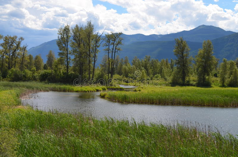 British Columbia Scenery -- Argenta royalty free stock photos
