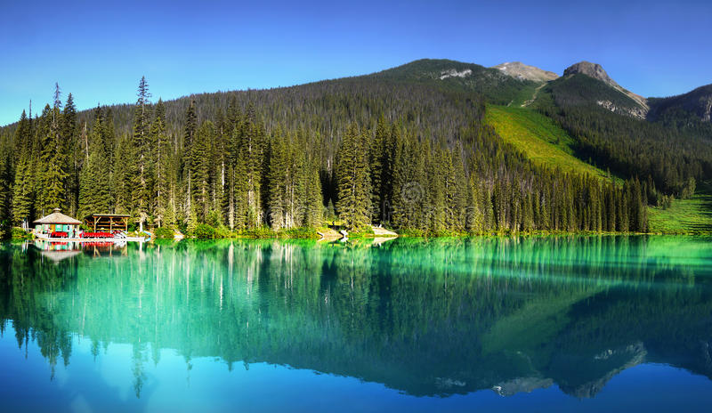 Download British Columbia, Vancouver, Emerald Lake Stock Photo - Image of destination, blue: 58744980
