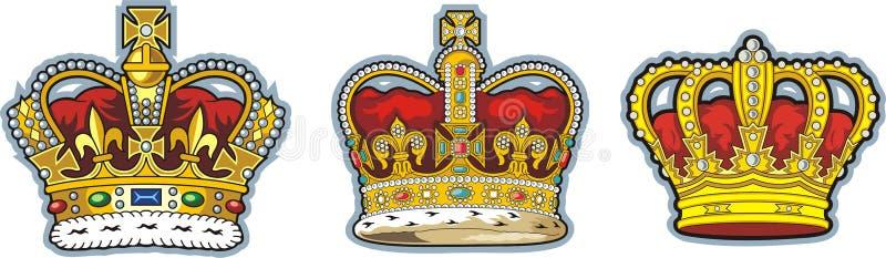 British crown vector illustration