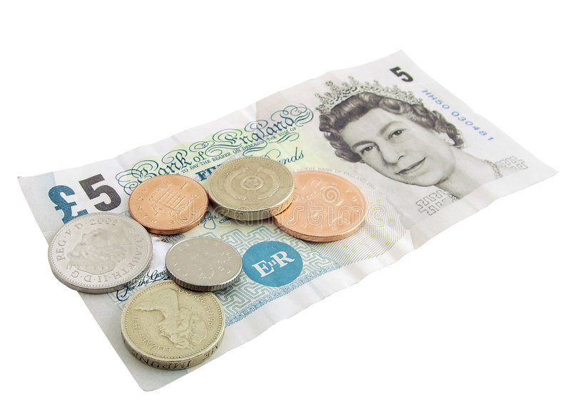 British Currency stock image