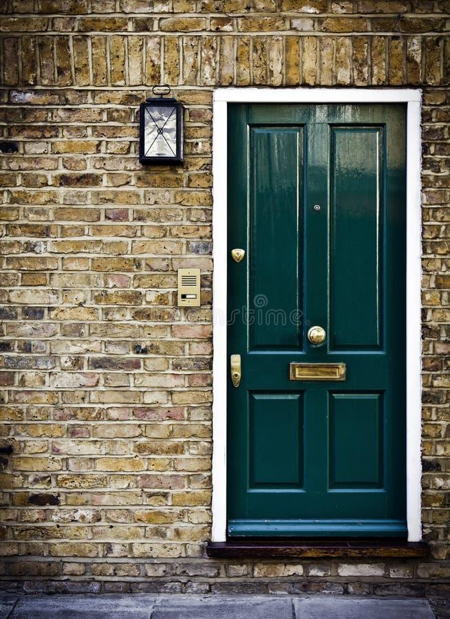British Door, London. Typical British door with doorbell in West London royalty free stock images
