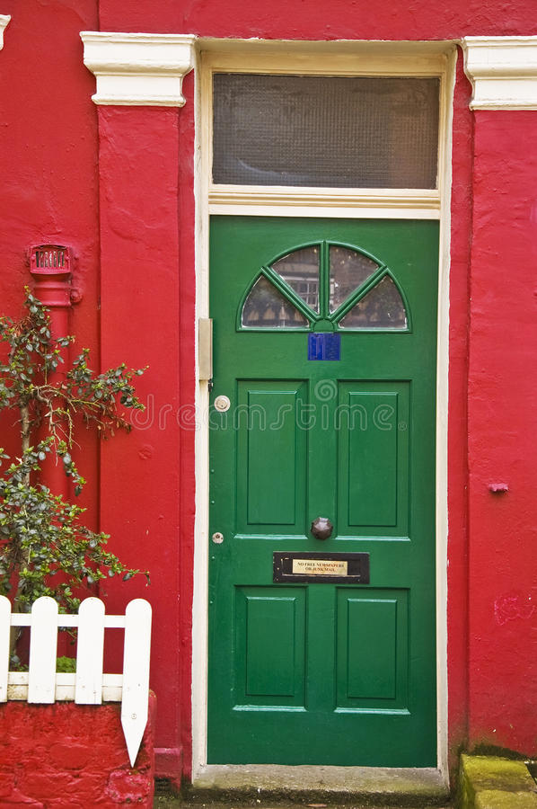 British doorhouse. British door in a london house royalty free stock photography
