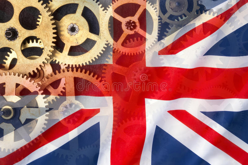 Flag of Great Britain - British Engineering stock images