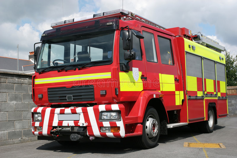 British Fire Engine royalty free stock photo