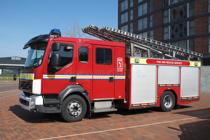 British Fire Engine Truck royalty free stock photos