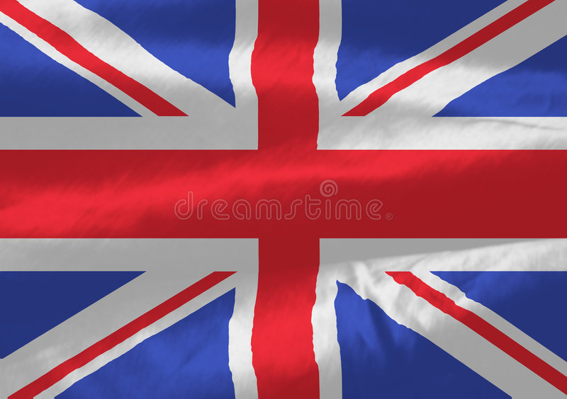 British flag flow vector illustration