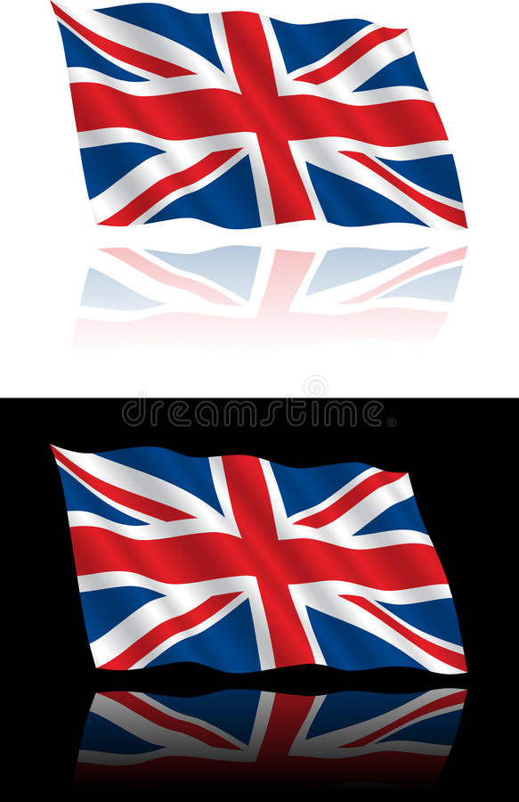 British Flag Flowing royalty free illustration