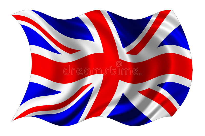 British flag isolated stock image