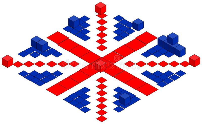 Download British Flag Made Of Cubes, Illustration Stock Illustration - Illustration: 8708080