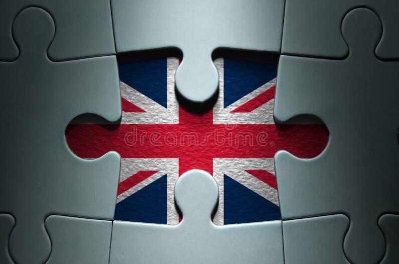 British flag missing jigsaw piece stock image