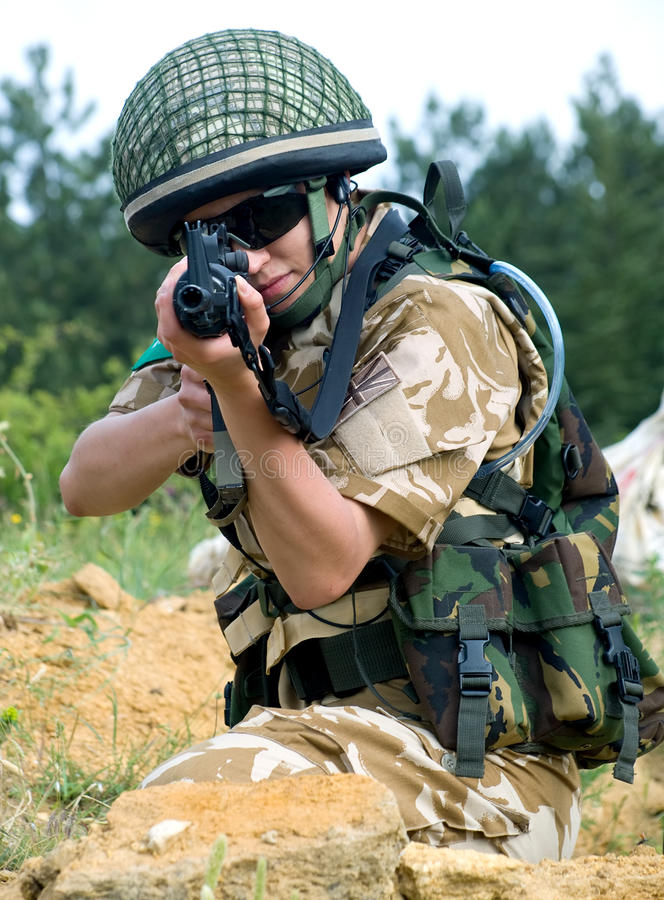 Download British girl soldier stock photo. Image of military, britain - 10104654