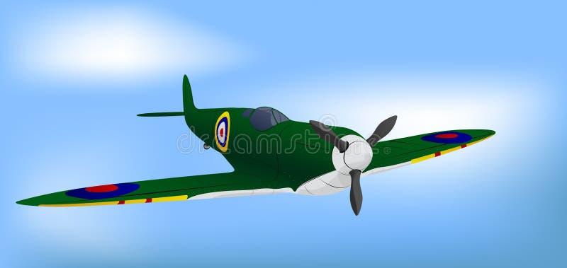 Download British Green RAF WW2 Spitfire Stock Vector - Image: 9037582