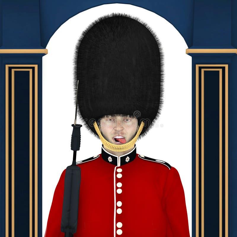 British Guard - tunga stock illustrationer